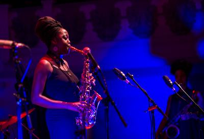 Ways and means: supporting a career in music, a saxophonist performing on stage