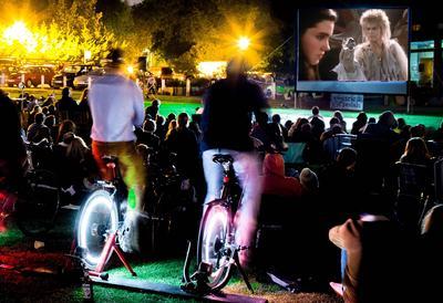 Bicycle-powered cinema - Labyrinth