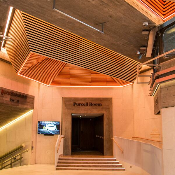 Purcell Room entrance at Southbank Centre