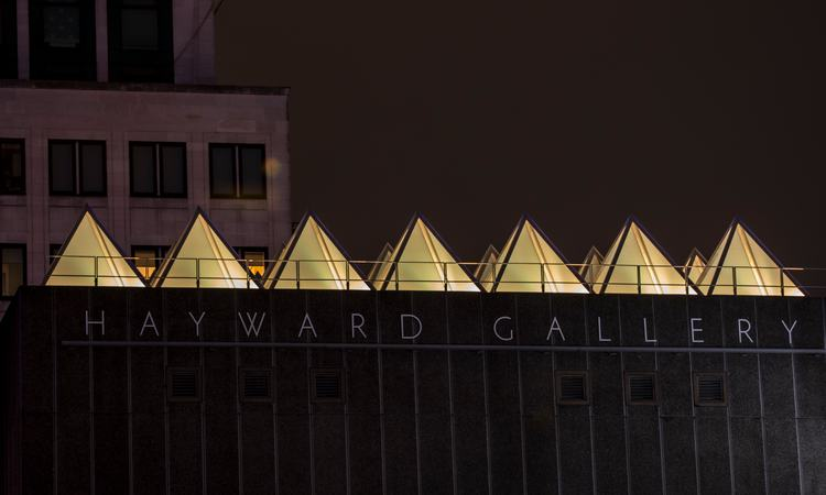 David Batchelor's Sixty Minute Spectrum installation at Hayward Gallery viewed close up