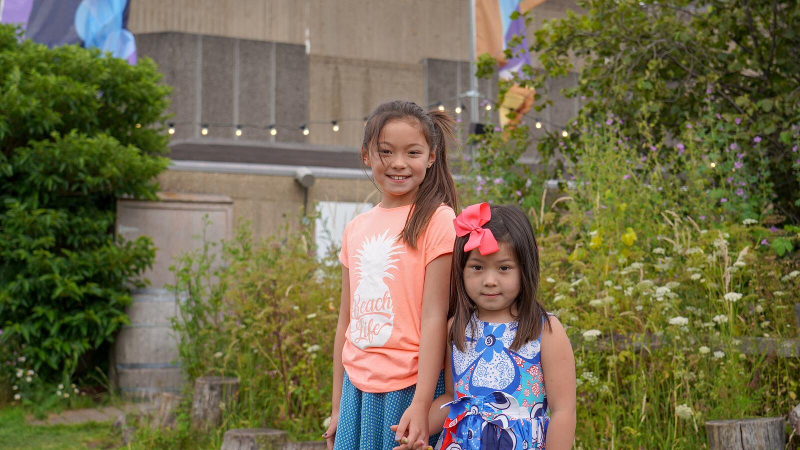 Children on Queen Elizabeth Roof Garden