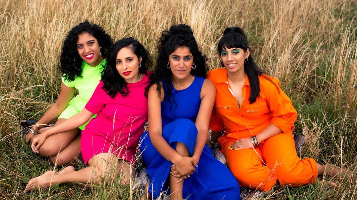 4 BROWN GIRLS WHO WRITE in a field