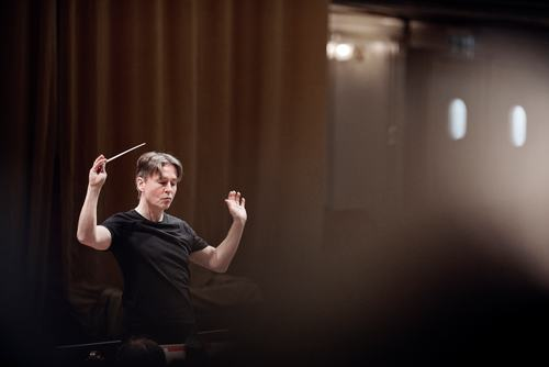 Esa-Pekka Salonen, Komponist, Dirigent 'chreative chair'-Inhaber der Tonhalle, fotografiert in der Tonhalle beim Proben.