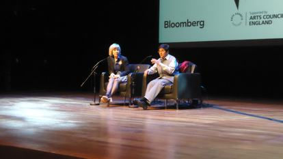 Dr Kiran Bedi talking at WOW 2012, Southbank Centre