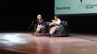 Dr Kiran Bedi talking at WOW 2012, Southbank Centre