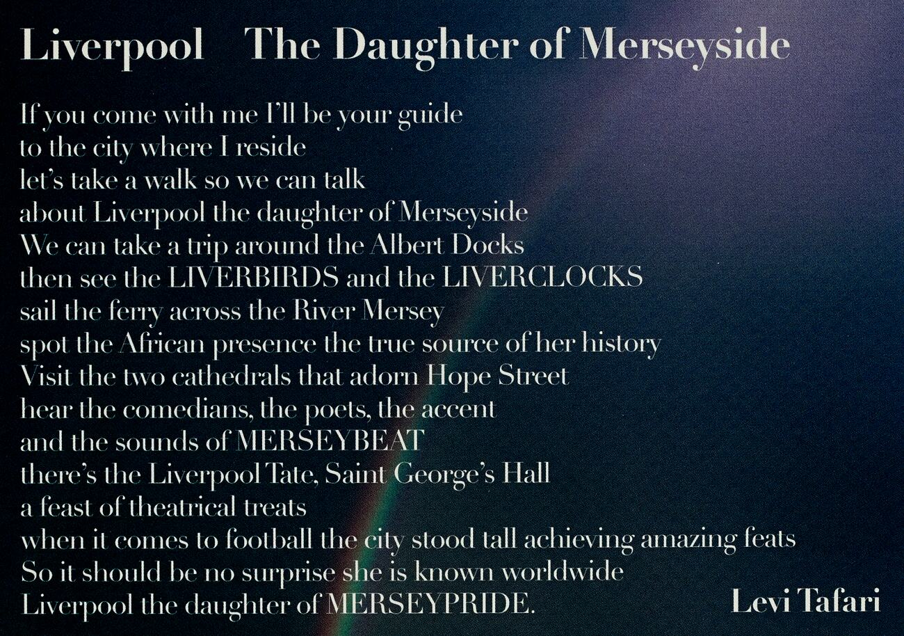 Liverpool The Daughter Of Merseyside National Poetry Library