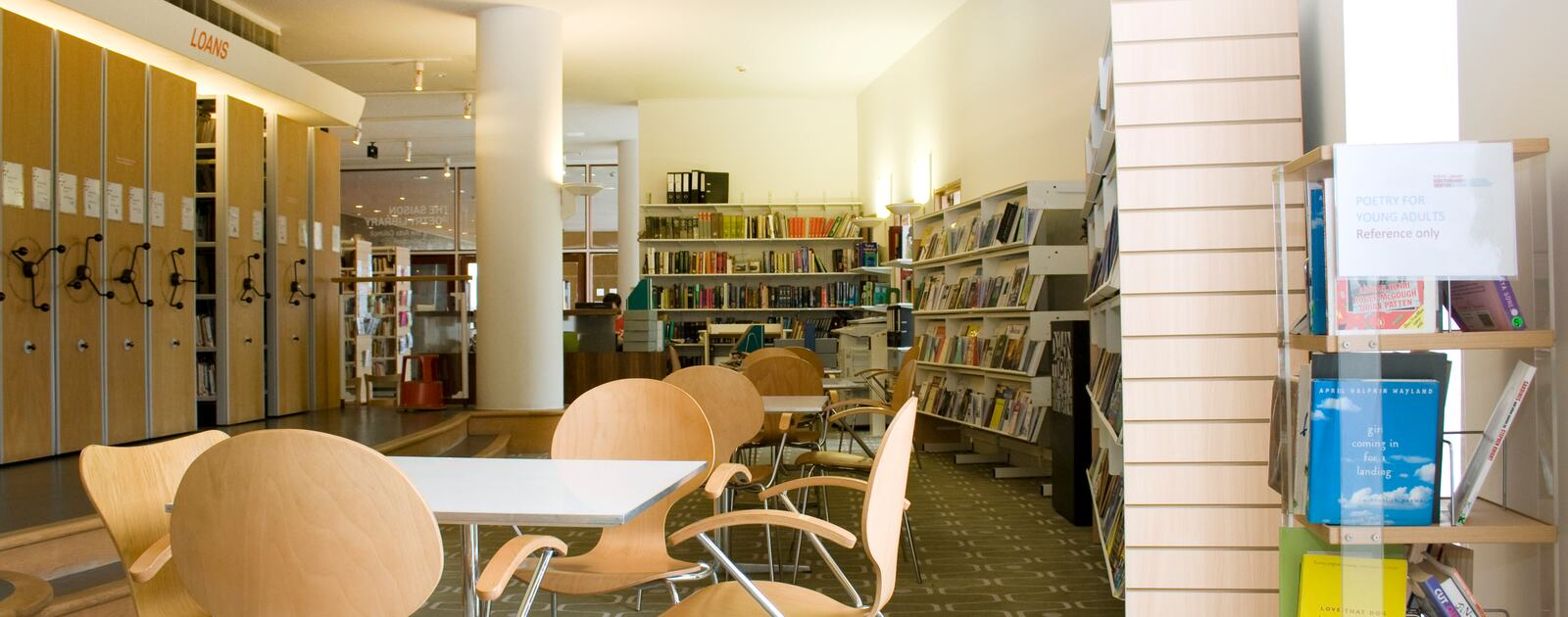 Inside The Poetry Library at the Southbank Centre