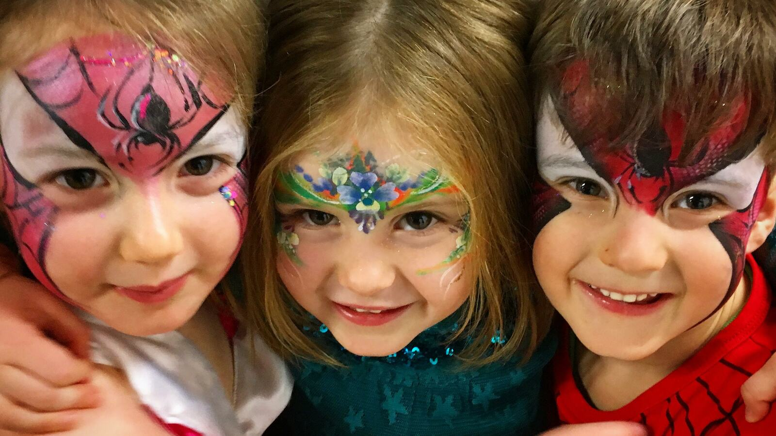 Children with facepaint