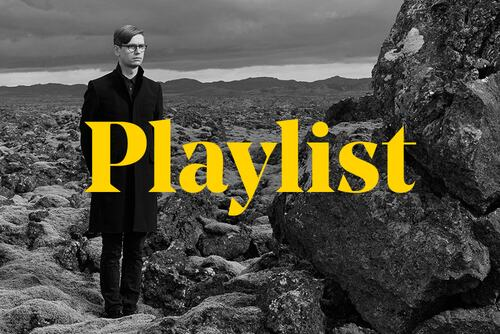 Graphic for Mental Health Awareness Week Playlist featuring Vikingur Olafsson