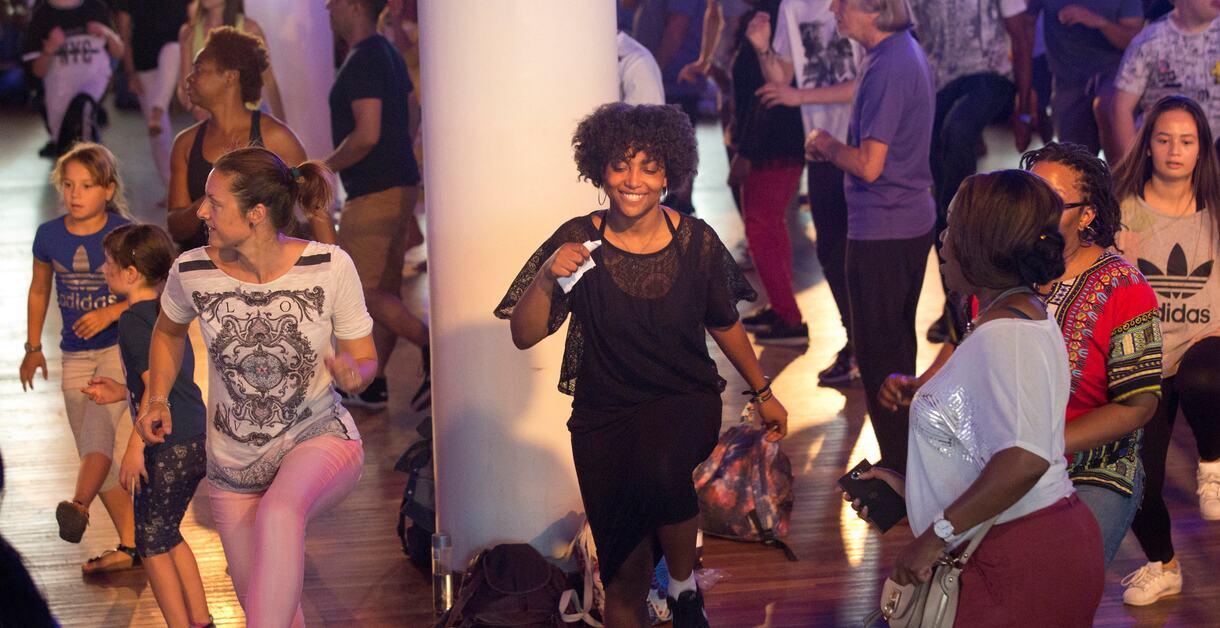 Dancers in The Clore Ballroom