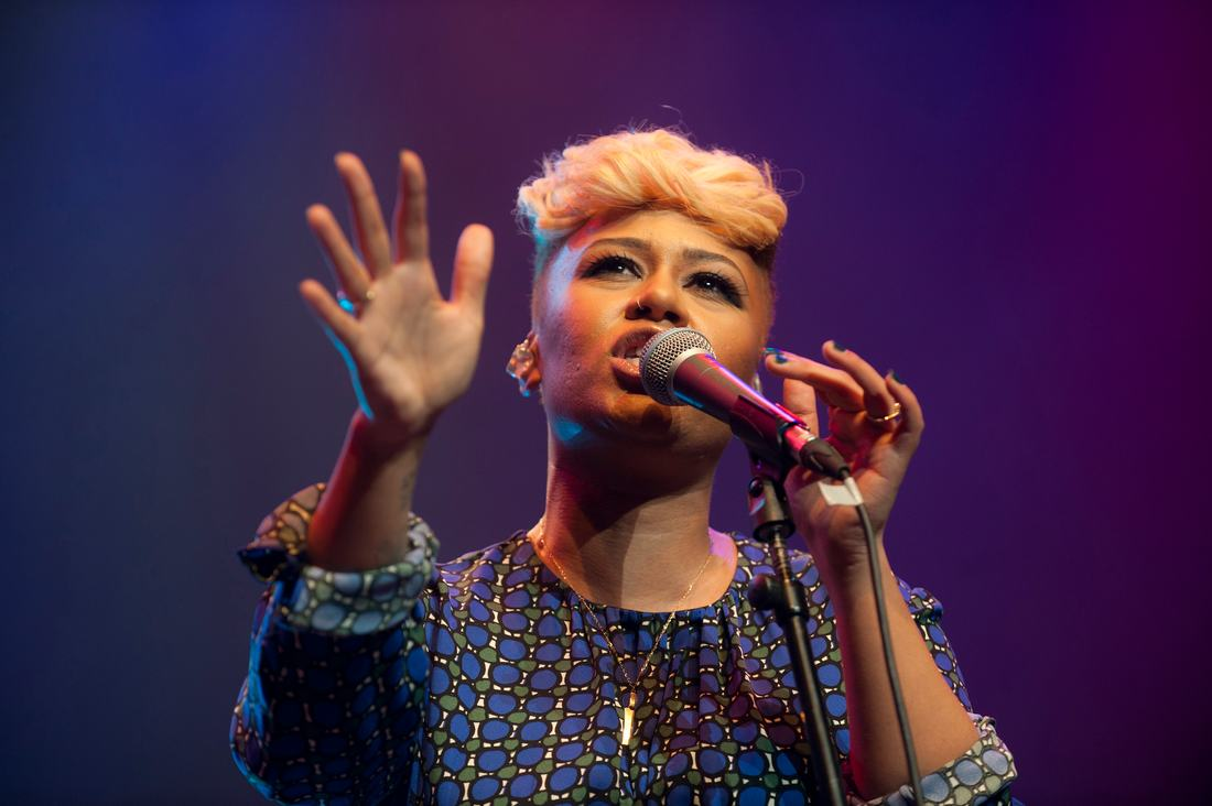 Emeli Sandé performing during WOW festival at the Southbank Centre