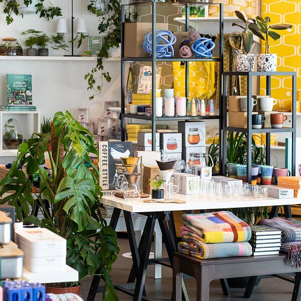 Design products and gifts in the Southbank Centre Shop, Mandela Walk