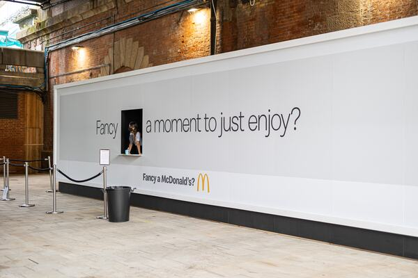 McDonalds Brand Activation in the Builder's Yard