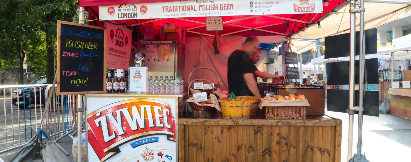 Southbank Centre Food Market.Stall 29- The Polish Deli.August 2016