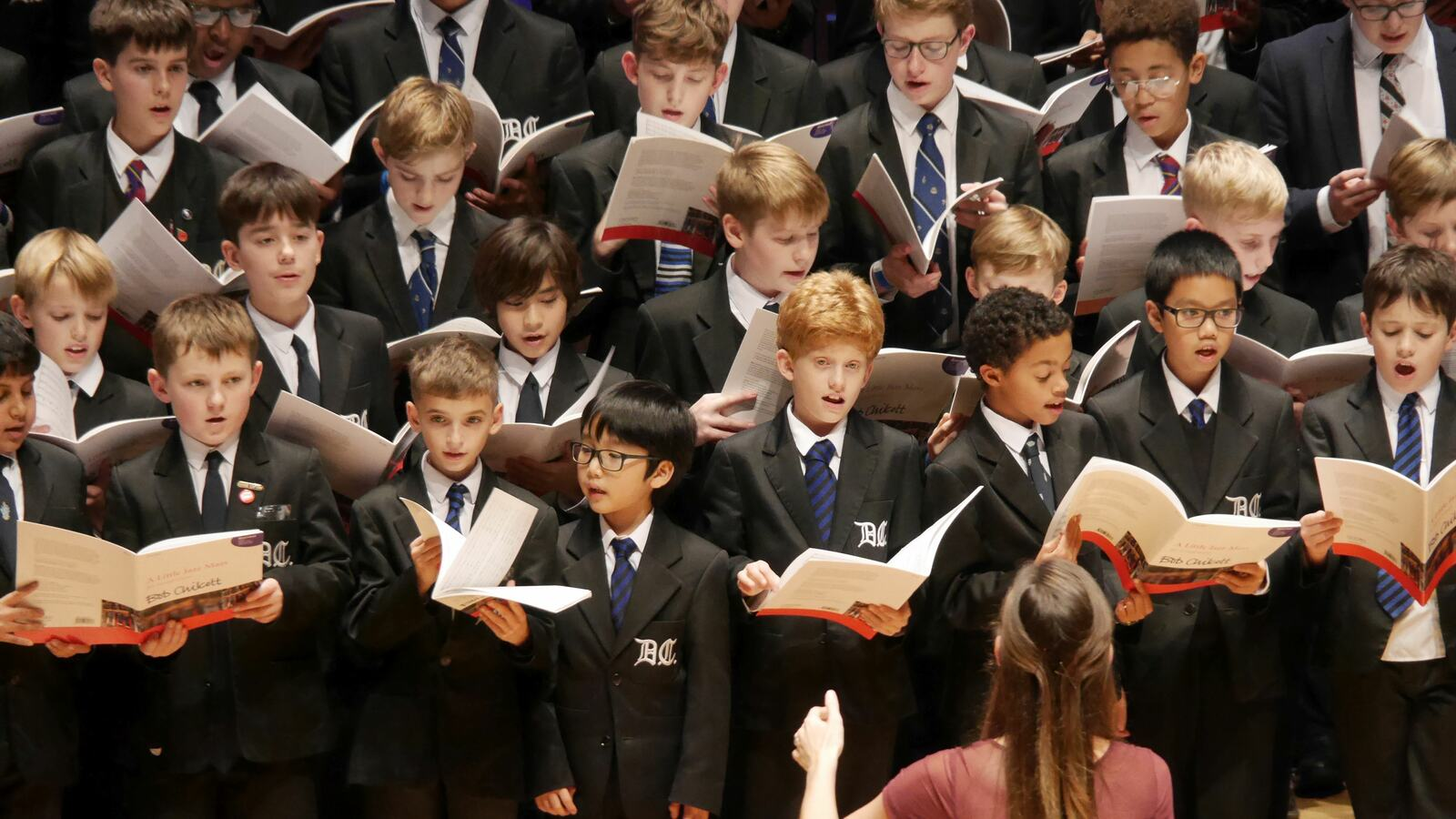 Young choir performing