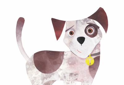 Illustration of a dog for the Woof Woof Wag Wag Puppy Poems event at Southbank Centre's Imagine festival