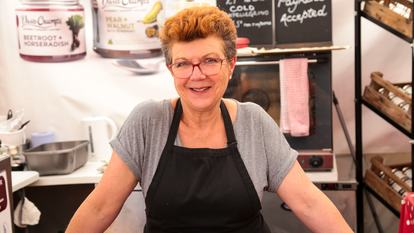 Southbank Centre Food Market.Stall 20 - Mrs Crump.August 2016