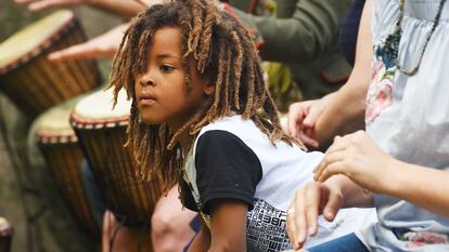 Family drumming