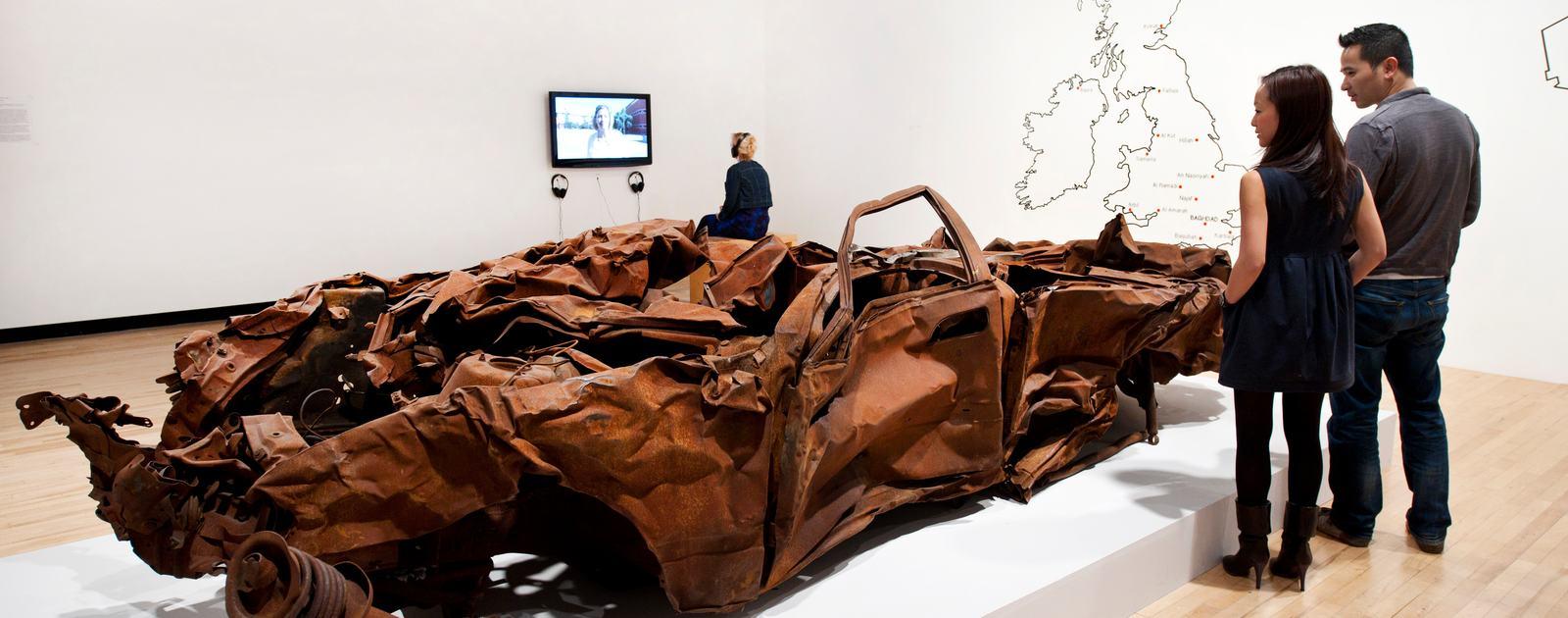Jeremy Deller: Joy in People. .Hayward Gallery, Southbank Centre, London. .Photo by Linda Nylind. 19/2/2012.