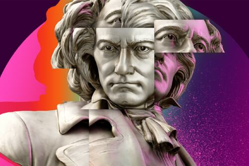 Illustration of Beethoven for Beethoven 250