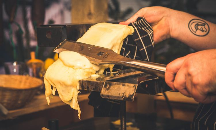 Raclette at Southbank Centre Winter Market