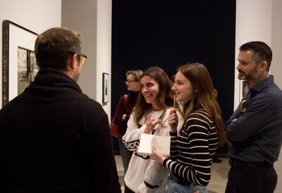 Secondary School discussing a painting in the Hayward Gallery