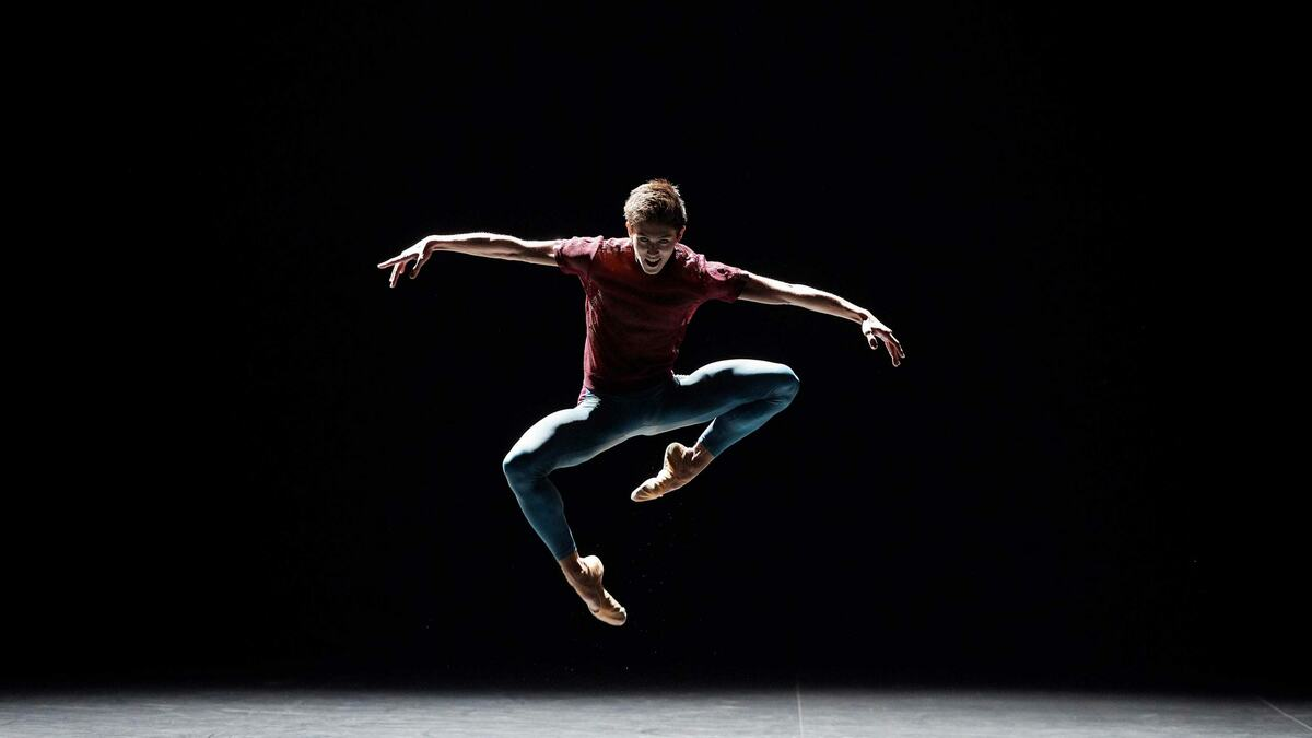 Dancer Erik Woolhouse, dancing