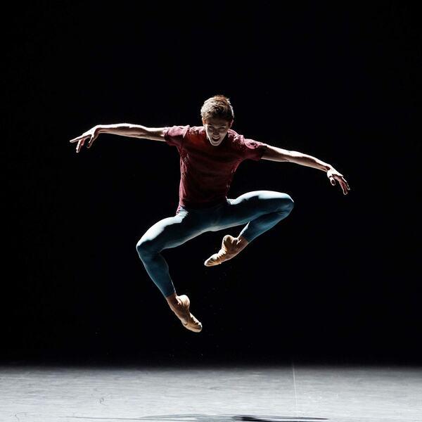 Dancer Erik Woolhouse, dancing