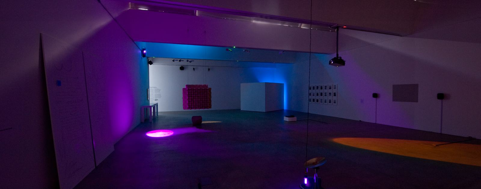 Listening (installation view), Hayward Touring Curatorial Open, curated by Sam Belinfante, BALTIC's project space at BALTIC 39, Newcastle upon Tyne, 2014. Image courtesy BALTIC Centre for Contemporary Art. Photo: Colin Davison.