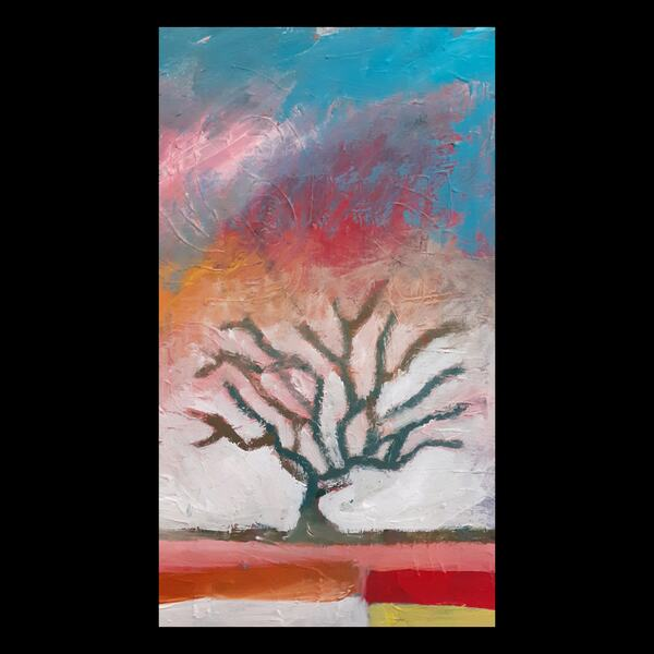 Painting of a tree. 'Tree of Hope' by Luke Squire, Art by Post participant