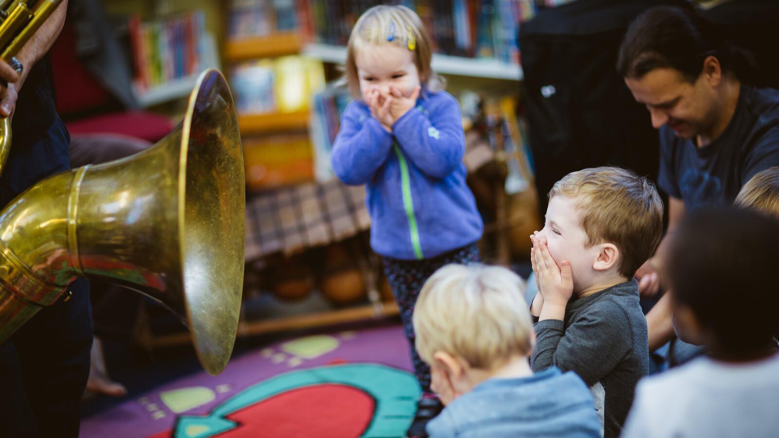Toddlers enjoying a Jazz session