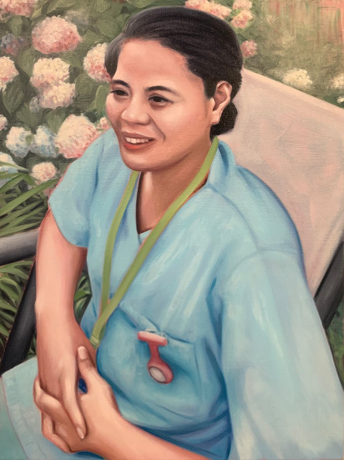 Everyday Heroes: Jacqui, 2020 Oil on linen