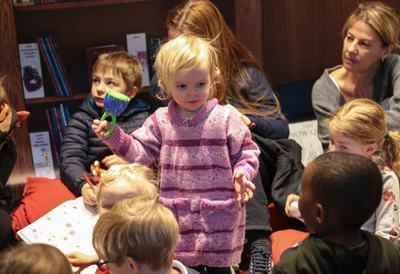 Child enjoying Rug Rhymes at Southbank Centre