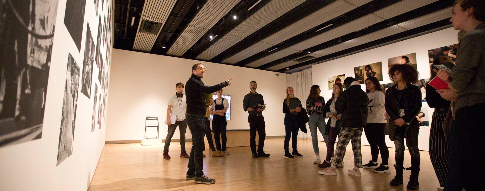 Interior view of Attia's 2019 exhibition at Hayward Gallery