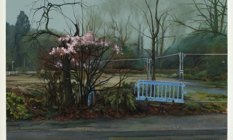 George Shaw, Woodsman 5 , 2009. © the artist and Anthony Wilkinson Gallery, London 2020.         Courtesy Anthony Wilkinson Gallery, London Photo: Peter White