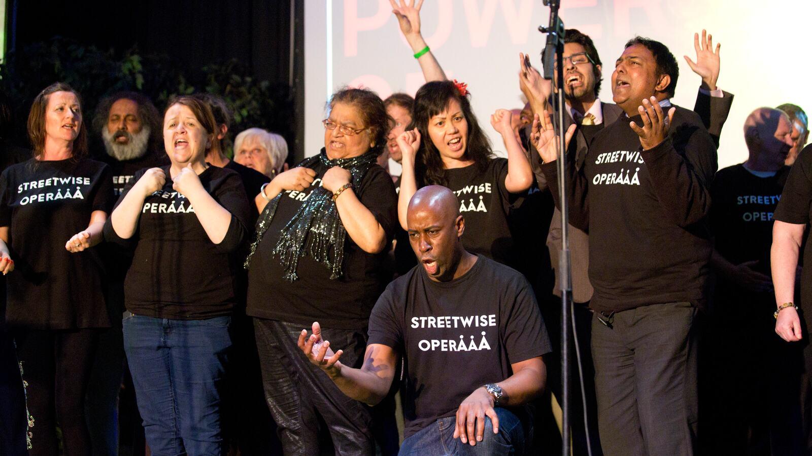 Feelings of Home, Streetwise Opera on stage