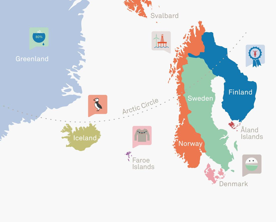 Nordic Countries Illustration