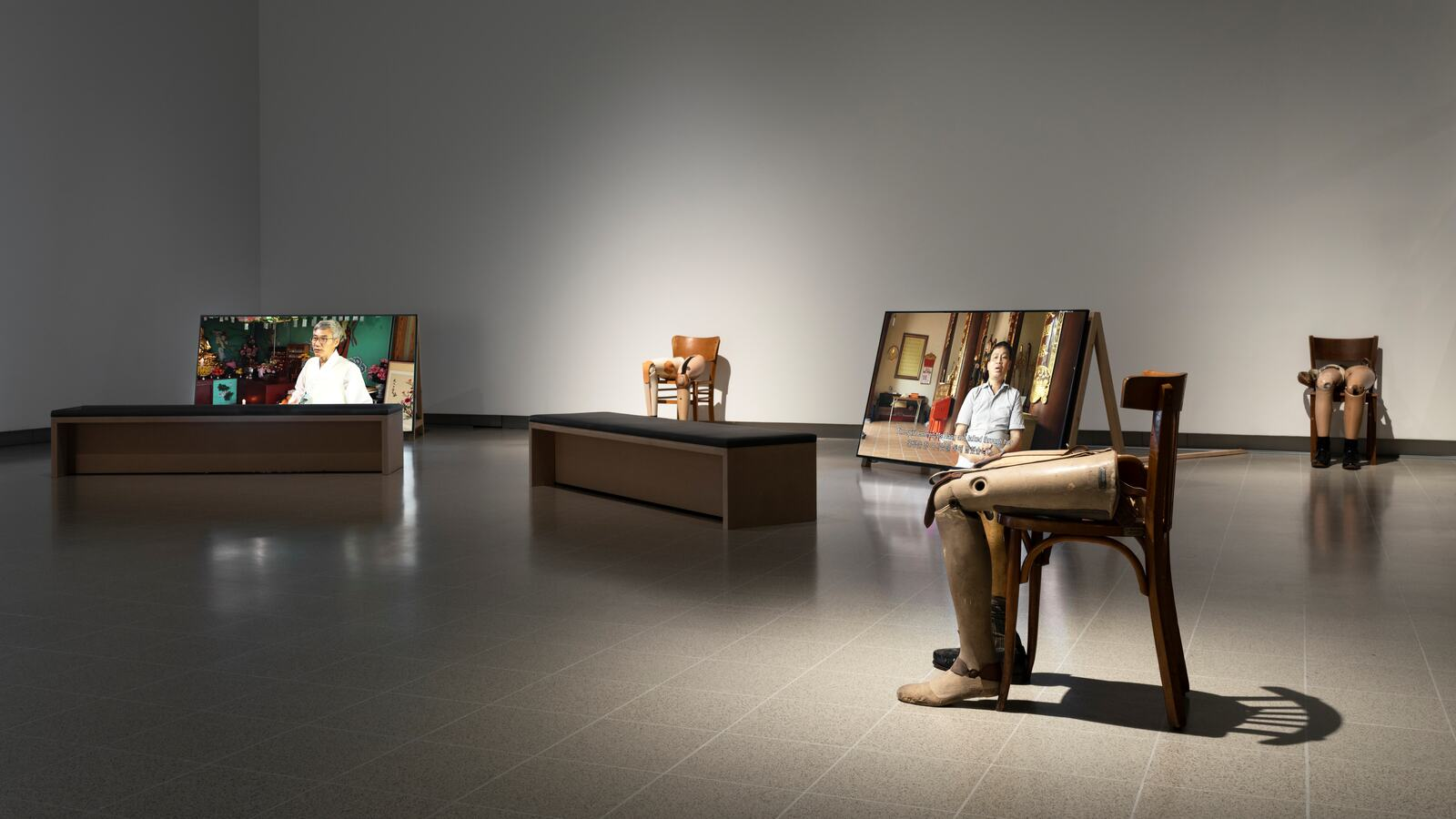 Installation view of Kader Attia: The Museum of Emotion at Hayward Gallery, 2019