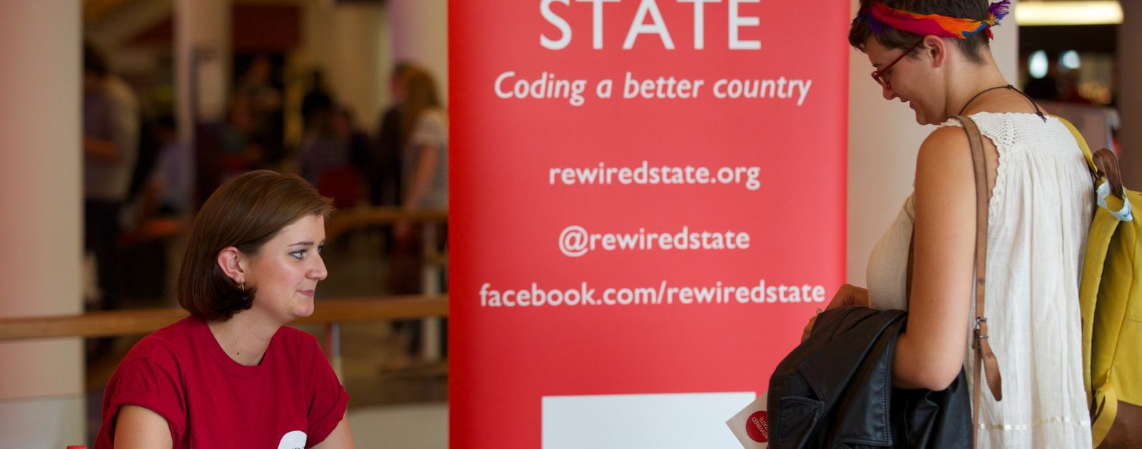 Rewired State Stand at Web We Want Festival
