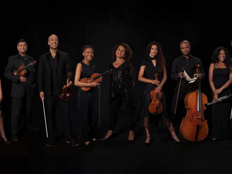 Members of Chineke! Orchestra in a line-up