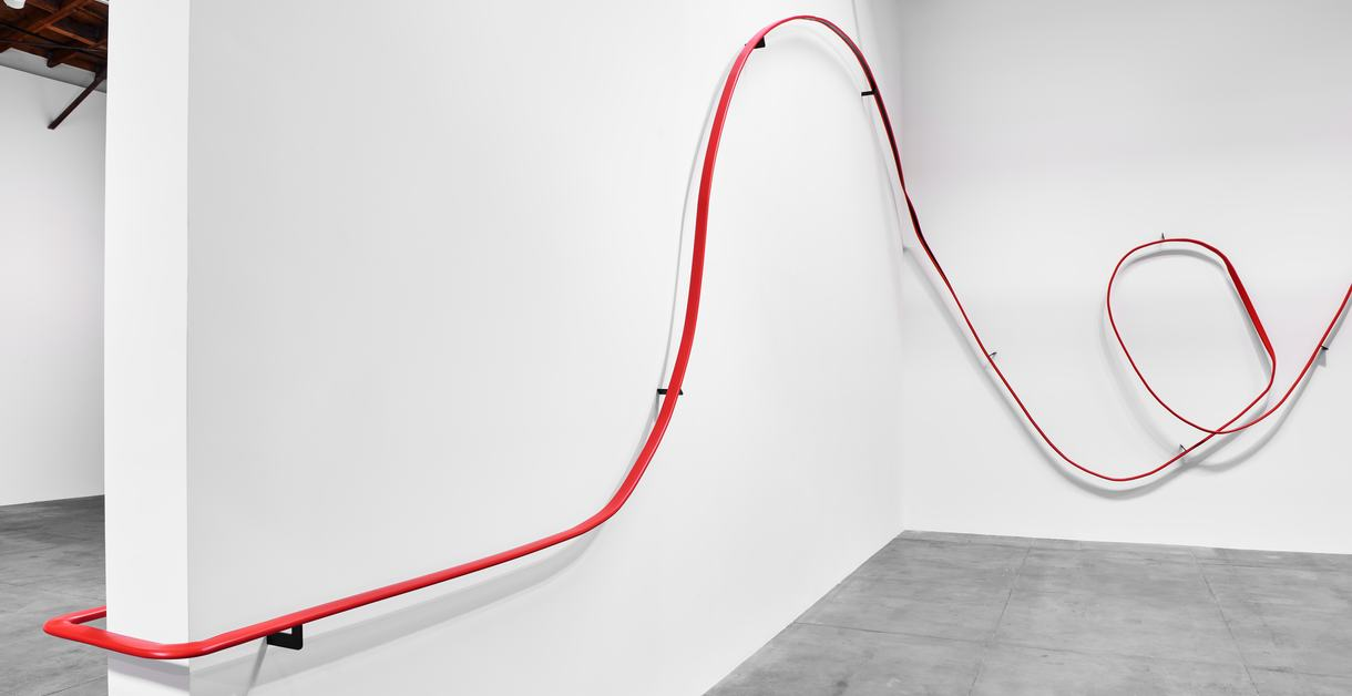 Handrail sculpture by Monika Sosnowska