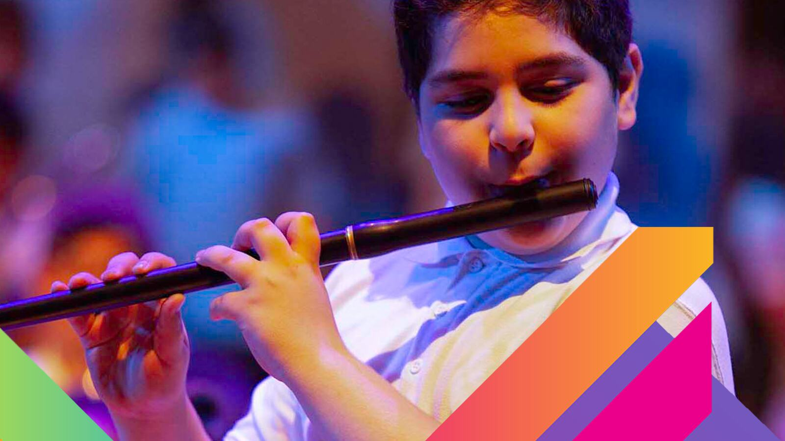Young musician performing