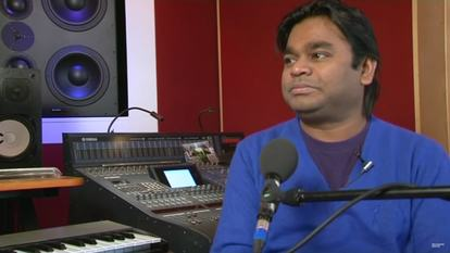 Still from video of interview with composer A R Rahman Interview (only to be used in relation to the video)