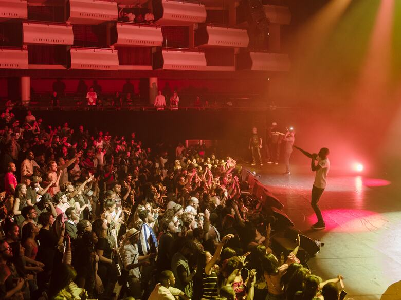MHD performing in Southbank Centre's Royal Festival Hall as part of M.I.A.'s Meltdown