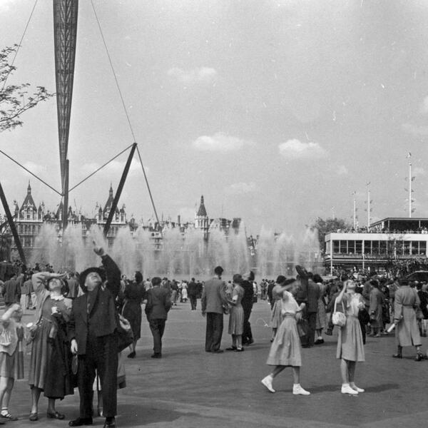Skylon Tower in 1951 at the Southbank