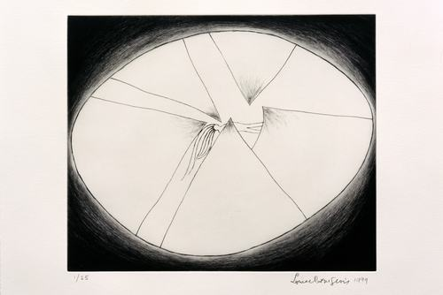 PLEASE HANG IN THERE, 1999 by LOUISE BOURGEOIS PRINTS: AUTOBIOGRAPHICAL SERIES AND SET OF 11 DRYPOINTS