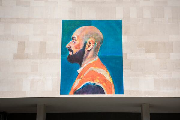 Installation view of Ryan Mosley, My Brother Paul, 2020 at Southbank Centre's Everyday Heroes, on until 7 November 2020. Copyright the artist. Photo credit_ Linda Nylind