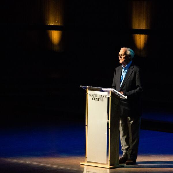 John Le Carre speaking at Royal Festival